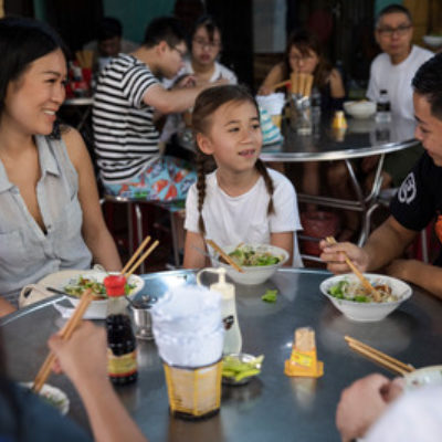 Vietnam Hoi An Oodles of Noodles Taste Testing Tour Mom Daughter Local Guide Interaction Eating