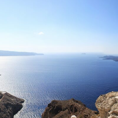 Greece Santorini View of the ocean Credit greg Montani Pixabay