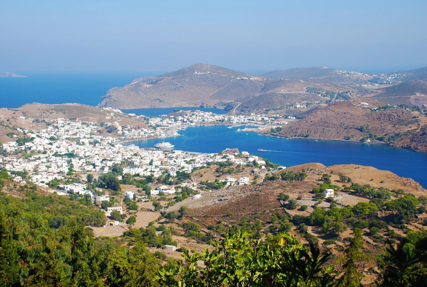 Greece Patmos Overlooking the town Credit Ez Pz Pics Pixabay